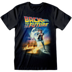 Kleidung T-Shirts Back To The Future  Schwarz