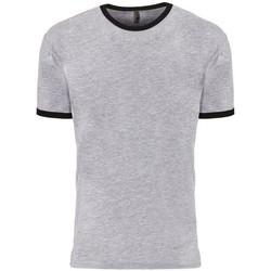 Kleidung T-Shirts Next Level NX3604 Grau meliert/Schwarz