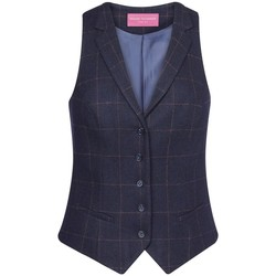 Kleidung Damen Anzugweste Brook Taverner BK521 Blau