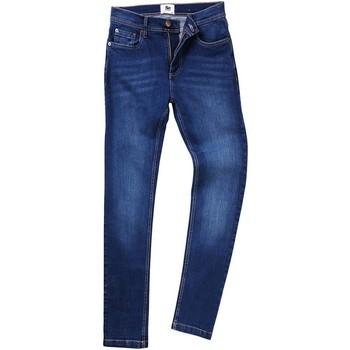 Kleidung Herren Straight Leg Jeans Awdis SD004 Dunkel Blau gewascht