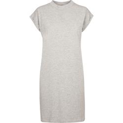 Kleidung Damen Kurze Kleider Build Your Brand BY101 Grau meliert