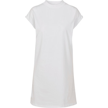 Kleidung Damen Kurze Kleider Build Your Brand BY101 Weiß