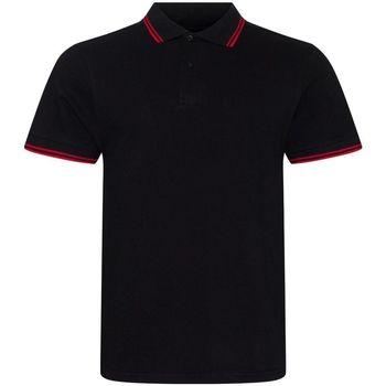 Kleidung Herren Polohemden Awdis JP003 Schwarz/Rot