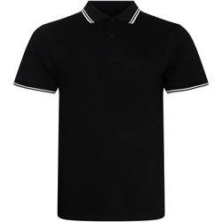 Kleidung Herren Polohemden Awdis JP003 Schwarz/Weiß