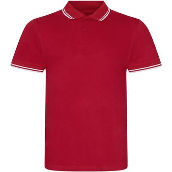 Kleidung Herren Polohemden Awdis JP003 Rot/Weiß