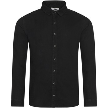 Kleidung Herren Langärmelige Hemden Awdis SD040 Schwarz