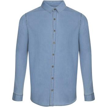 Kleidung Herren Langärmelige Hemden Awdis SD040 Hellblau