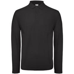 Kleidung Herren Langärmelige Polohemden B And C BA290 Schwarz