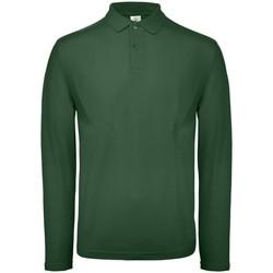 Kleidung Herren Langärmelige Polohemden B And C BA290 Flaschengrün
