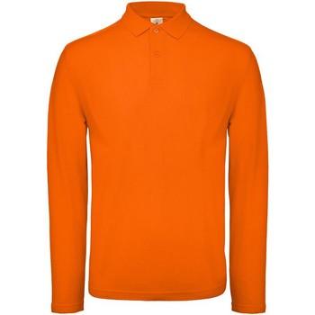 Kleidung Herren Langärmelige Polohemden B And C BA290 Orange