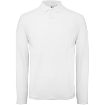 Kleidung Herren Langärmelige Polohemden B And C BA290 Weiß
