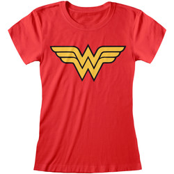 Kleidung Damen T-Shirts Dc Comics  Rot