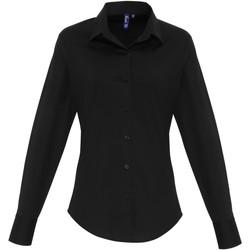 Kleidung Damen Hemden Premier PR344 Schwarz