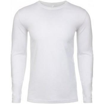 Kleidung Herren Langarmshirts Next Level NX3601 Weiß