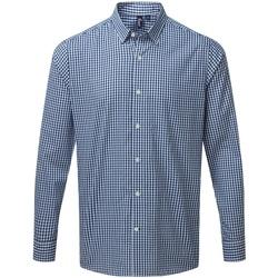 Kleidung Herren Langärmelige Hemden Premier PR252 Marineblau/Weiß