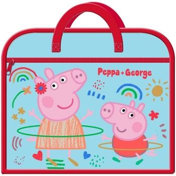 Taschen Kinder Schultasche Peppa Pig  Rot