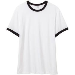 Kleidung Herren T-Shirts Alternative Apparel AT013 Weiß/Schwarz