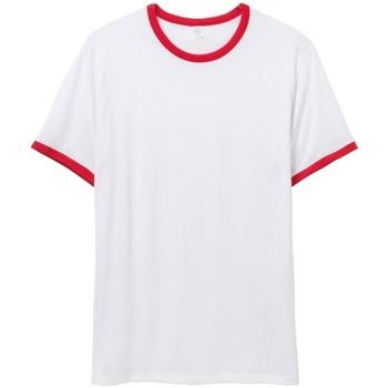 Kleidung Herren T-Shirts Alternative Apparel AT013 Weiß/Rot