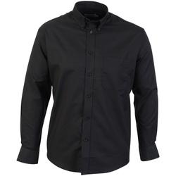 Kleidung Herren Langärmelige Hemden Absolute Apparel  Schwarz