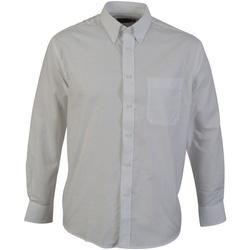 Kleidung Herren Langärmelige Hemden Absolute Apparel  Weiß