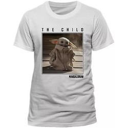 Kleidung T-Shirts Star Wars: The Mandalorian  Weiß