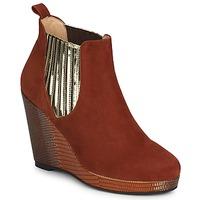 Schuhe Damen Ankle Boots MySuelly LEON Goldfarben