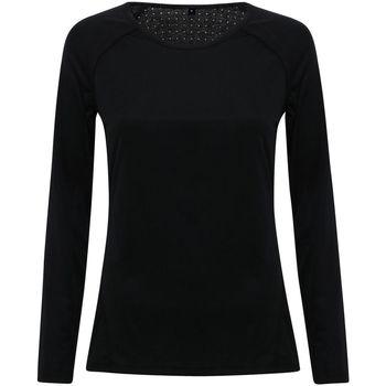 Kleidung Damen Langarmshirts Tridri TR040 Schwarz