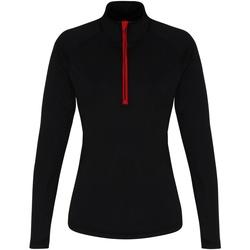 Kleidung Damen Langarmshirts Tridri TR120 Schwarz/Rot