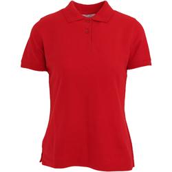 Kleidung Damen Polohemden Absolute Apparel  Rot