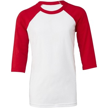 Kleidung Damen T-Shirts Bella + Canvas BE218 Weiß/Rot