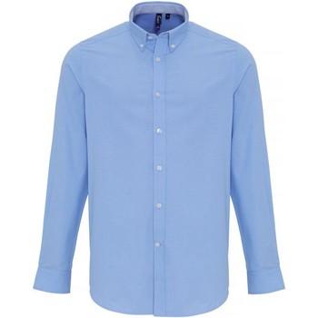Kleidung Herren Langärmelige Hemden Premier PR238 Hellblau