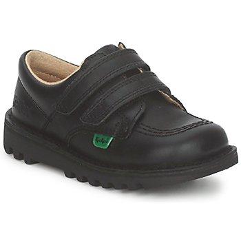 Schuhe Kinder Sneaker Low Kickers KICK LO VELCRO Schwarz