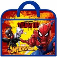 Taschen Kinder Schultasche Spiderman  Marineblau/Rot