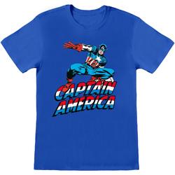 Kleidung T-Shirts & Poloshirts Captain America  Blau