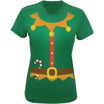 Kleidung Damen T-Shirts & Poloshirts Christmas Shop CS143 Grün