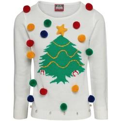 Kleidung Damen Sweatshirts Christmas Shop CJ102 Weiß