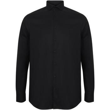 Kleidung Herren Langärmelige Hemden Henbury HB532 Schwarz