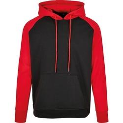 Kleidung Herren Sweatshirts Build Your Brand BB005 Schwarz/Rot