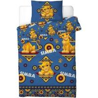 Home Bettbezug Lion King Taille unique Blau