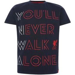 Kleidung Kinder T-Shirts & Poloshirts Liverpool Fc  Marineblau/Rot