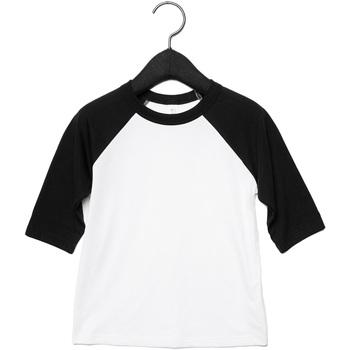 Kleidung Kinder Langarmshirts Bella + Canvas CA3200Y Weiß/Schwarz