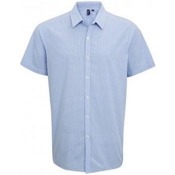 Kleidung Herren Kurzärmelige Hemden Premier PR221 Hellblau/Weiß