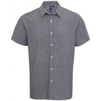 Kleidung Herren Kurzärmelige Hemden Premier PR221 Schwarz/Weiß