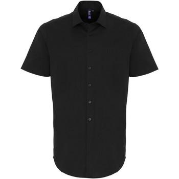 Kleidung Herren Kurzärmelige Hemden Premier PR246 Schwarz