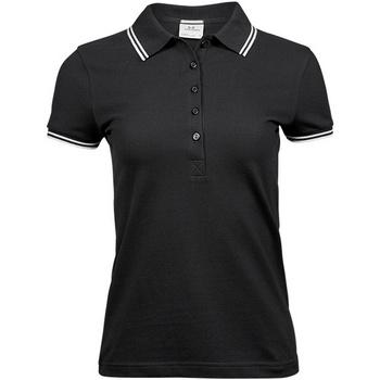 Kleidung Damen Polohemden Tee Jays TJ1408 Schwarz/Weiß