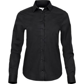 Kleidung Damen Hemden Tee Jays TJ4025 Schwarz