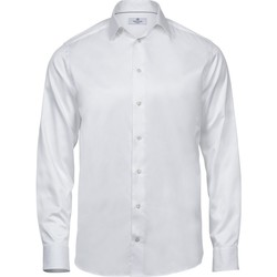 Kleidung Herren Langärmelige Hemden Tee Jays TJ4020 Weiß