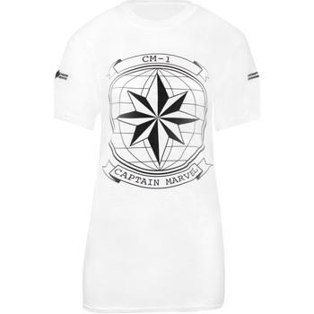 Kleidung Damen T-Shirts Captain Marvel  Weiß/Schwarz
