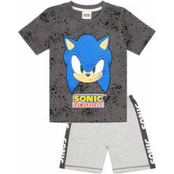 Kleidung Jungen Pyjamas/ Nachthemden Sonic The Hedgehog  Grau