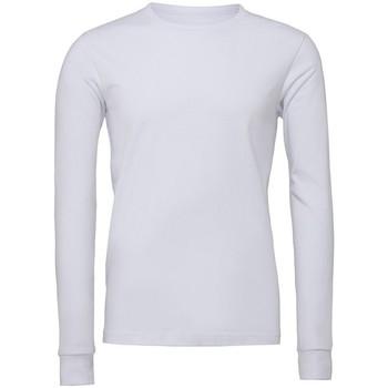 Kleidung Langärmelige Polohemden Bella + Canvas CV3501 Weiß